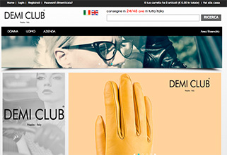 Demiclub.com Sito web  e-commerce / web design / fotografia still life