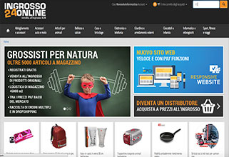 Sito Web E-commerce + Sync Amazon Ebay E-price ingrosso24online.com